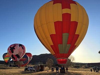 ballong, luftballong, färgglada, Sky, flyg, blå, Float
