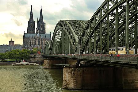 Cologne, Cầu Hohenzollern, Dom, sông Rhine