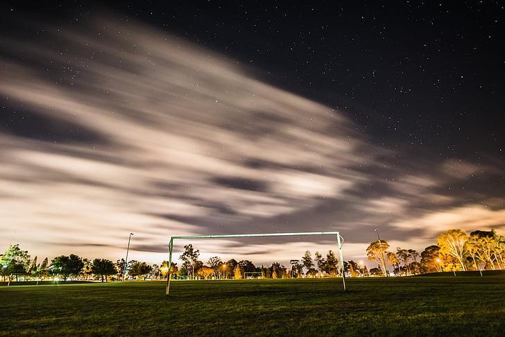 soccer, ball field, ball, football, goal, soccer field
