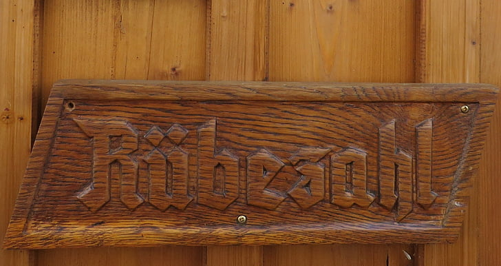 wooden sign, fairy tales, rübezahl, wood - Material, backgrounds, brown