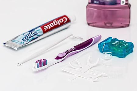 dental, pasta de dents, raspall de dents, fil dental, esbandida bucal, netejar, dents