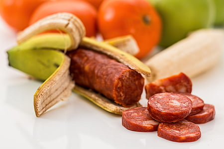 aliments GM, plàtan, chourico, aliments modificats genèticament, sorpresa, fruita, Orgànica