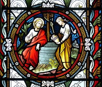 kirke, vinduet, kirken vindu, Glassmaleri, tro, bilde, Bibelen