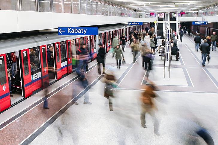 Metro, Subway, Rush, tundi, underground, Varssavi, transpordi