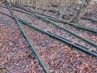 seemed, gleise, shipping being lost, railway, track, railway rails, cross