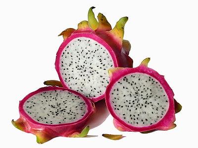 voće, egzotično voće, zmaj voće, Pitaya, egzotične, Crveni, tropska
