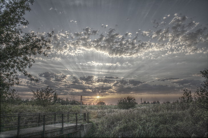 HDR, nori, peisaj, cer, dramatice, starea de spirit, Drama