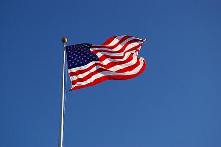 Bandera, EUA, Amèrica, barres i estrelles, bandera americana