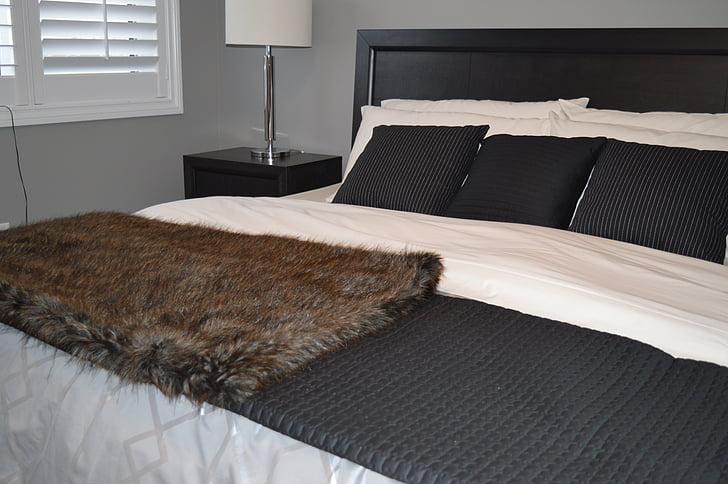 tempat tidur, Kamar tidur, Mebel, dekorasi, lampu, rumah, rumah