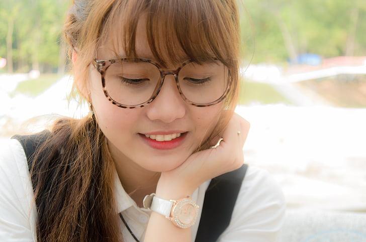 chica, de la sonrisa, bonita, Guapa, Preciosa, chica de Asia, lindo