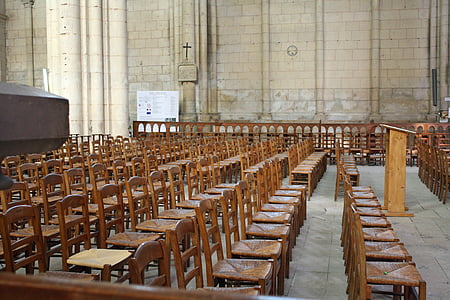 church chairs, wooden chairs, rows of chairs, seating, wooden seats, congregation seating