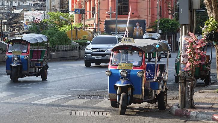 tuktuk, bangkok, thailand, city, asia, travel, thai