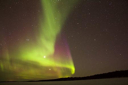 nit, llums del nord, cel, estrelles, estrella - espai, l'astronomia, aurora boreal