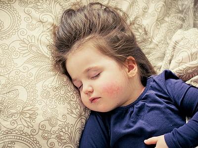 Baby, dievča, spánok, dieťa, batoľa, portrét, sladký