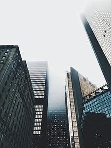 hoonete, kõrghooneid, taevas, udune, Urban, kaasaegne, Office