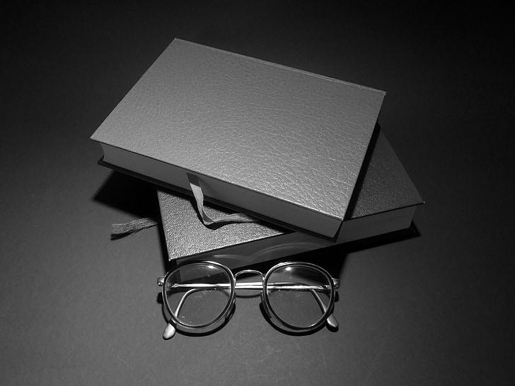 boeken, lezen, bril, literatuur, Leesbrillen, onderwijs, leren