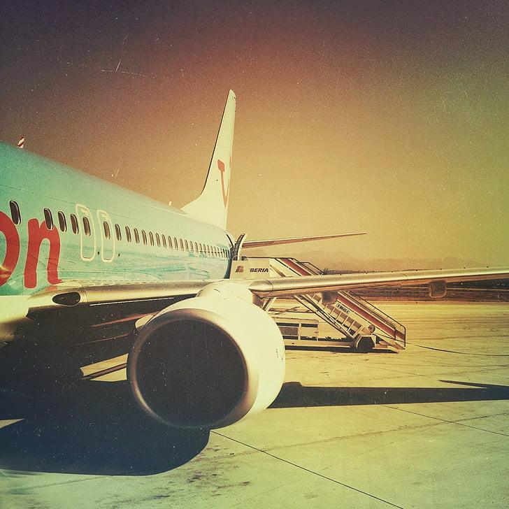 lidmašīna, Grunge, Retro, lidmašīnas, plakne, ceļojumi, lidojumu