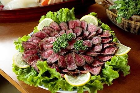 cuina, carn de boví, Daurada, Rosbif de vedella, aliments, frescor, vegetals