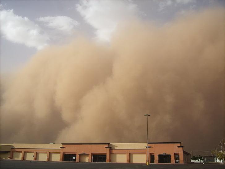 Peščeni vihar, pesek poplav, nevihta, prah, umazanijo, haboob, vreme
