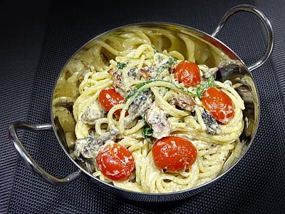 pasta cremosa, italià, oli d'oliva, aliments, tomàquet, All, bolet