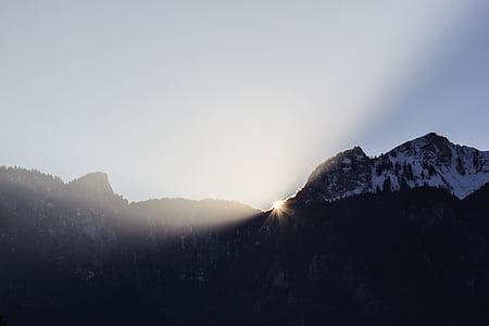 Mountain, Highland, Sky, toppmötet, Ridge, landskap, naturen
