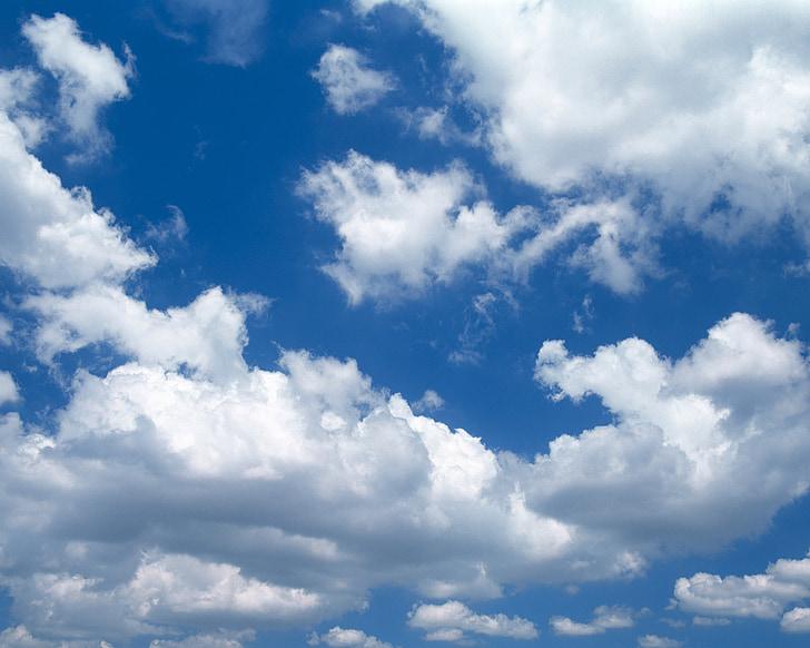 hemel, blauwe hemel