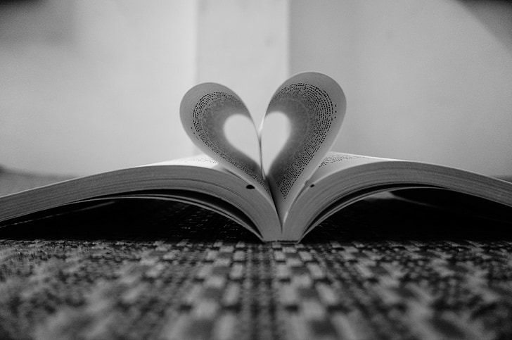 love-shape, heart shape, love book, love pages, book, love, heart