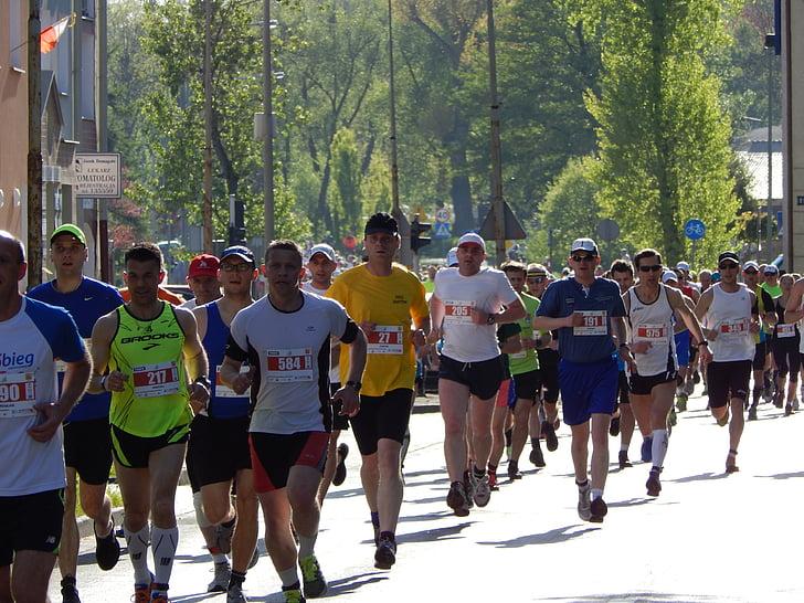 maratons, skriešanas, sacensības