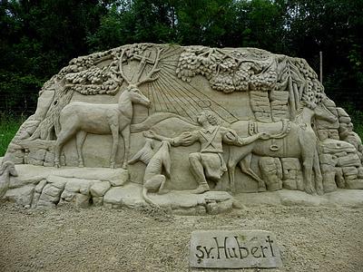 statue, sand sculptures, olšiak, sand, art, work of art, creative sculpture