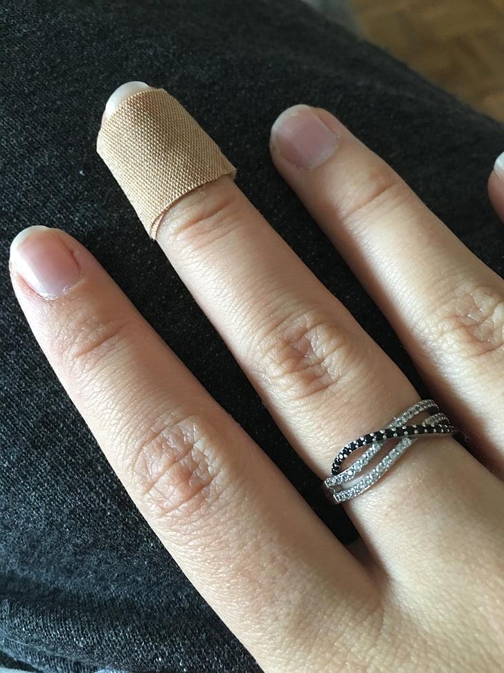 Ručné, prsty, rany, plátok, liečiť