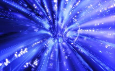 forat de cuc, espai, Ciència, Portal, túnel, blau, il·luminat