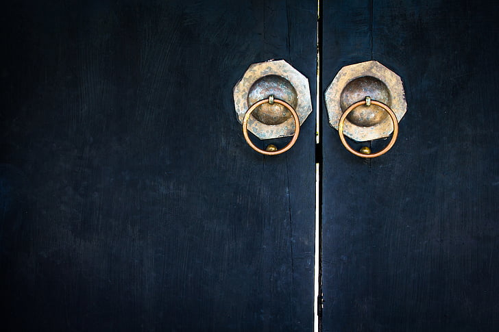 porta, vell, disseny, chaina, fons, fusta, Cadena