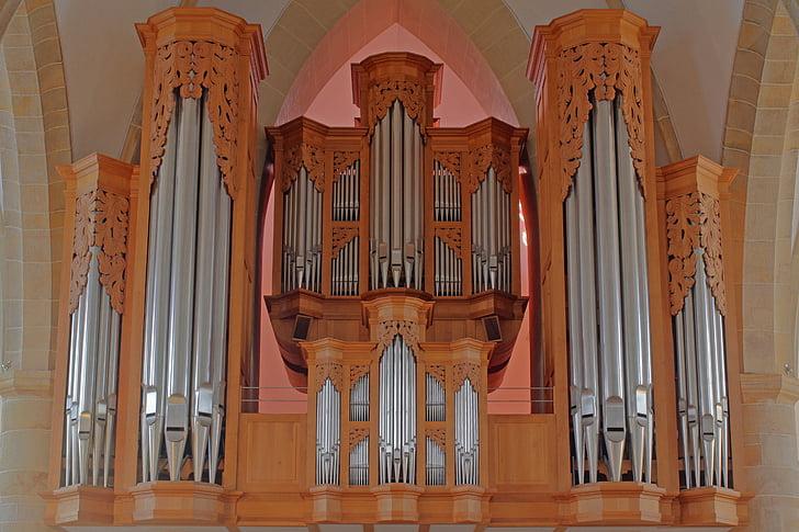 òrgan, òrgan de l'església, hillebrand, Meppen, música religiosa, instrument, xiulet de l'òrgan
