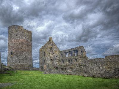 Замок, Лицарський замок, середньовіччя, піднесене, величезні, введення, притягнення туриста