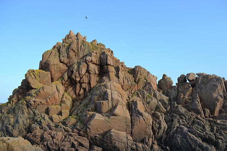 Jersey, formação rochosa, pedras, colina, natureza, montanha, Rock - objeto