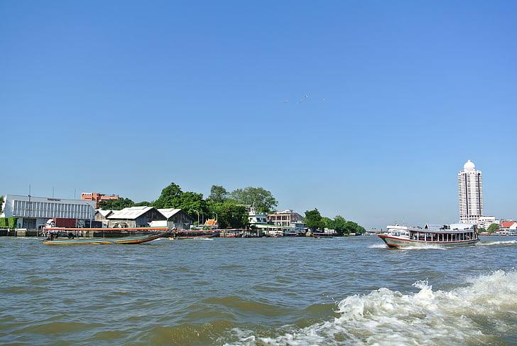 bangkok, thailand, river, ship, travel