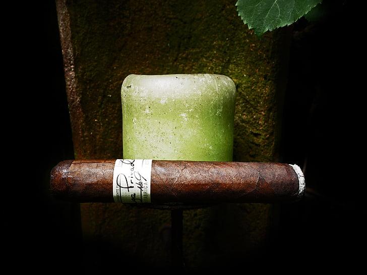 cigar, beneficiar-se de, fumar