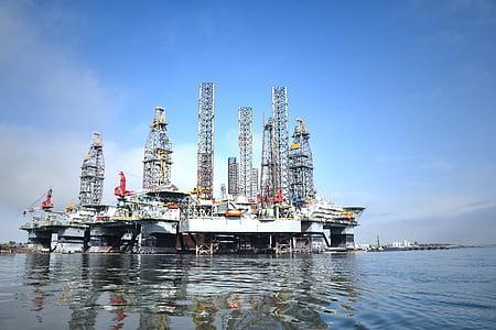 industrial, refineria, Torre, petroli, construcció, petroquímic, gasolina