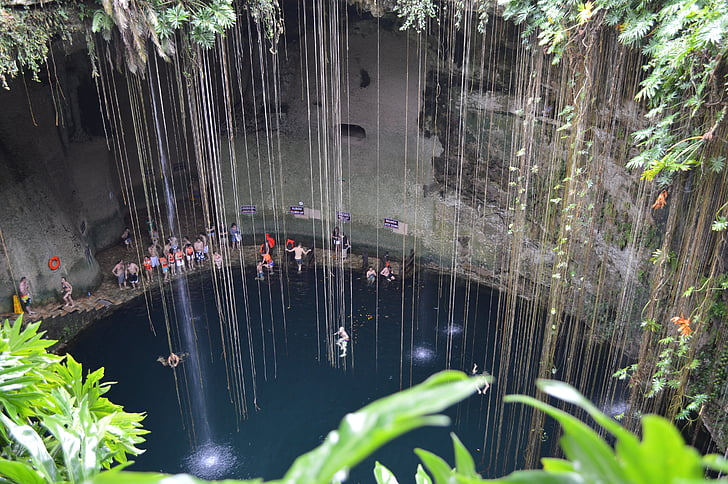 Cenote, Mexikó, jól, víz