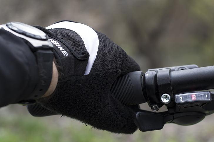 hånd, sykkel, Øvelse, fritid, se, handlingen, eventyr
