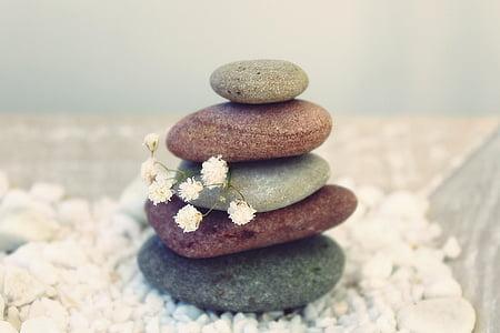 đá, thiền định, cân bằng, thư giãn, gartendeko, thiết kế Sân vườn, phần còn lại