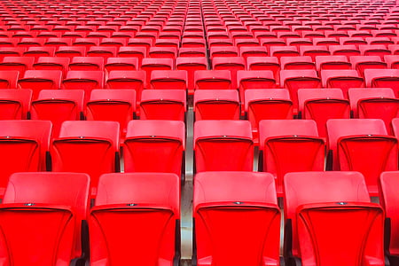 red, theater, seat, platic, chairs, event, auditorium