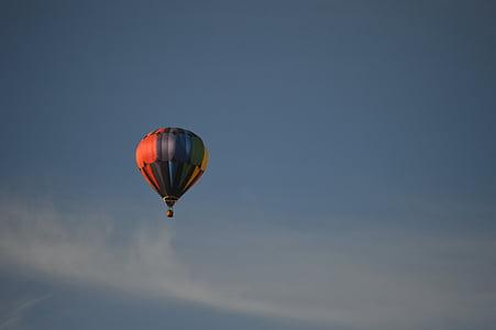 luftballong, Sky, drömmar, blå, flyg, kul, resor