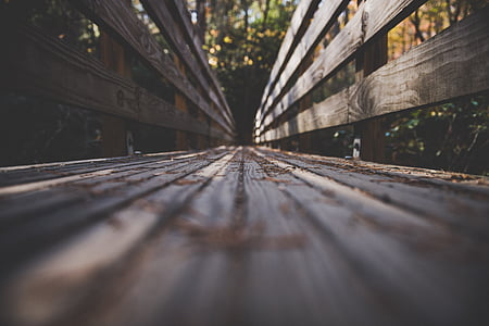 dřevěný, Most, cesta, cestování, venkovní, dobrodružství, rozostření