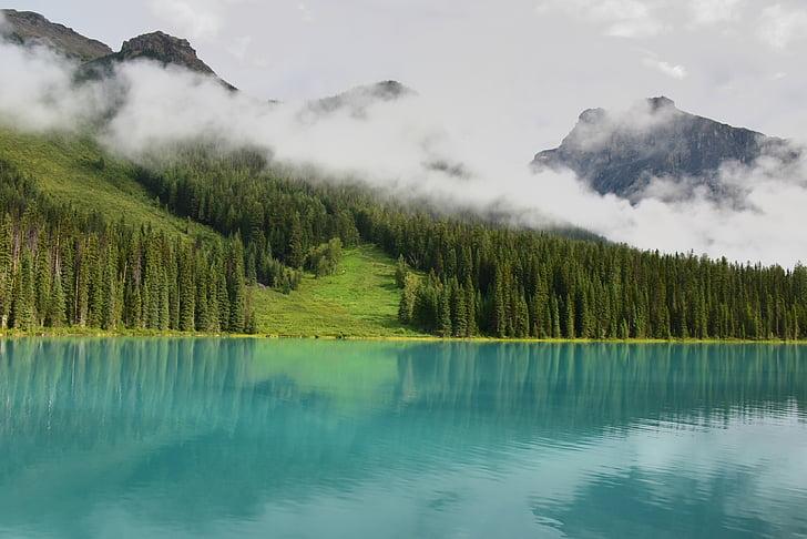 tapeta, Tapety na komputer, Jezioro, Serenity, życie, góry, odbicie