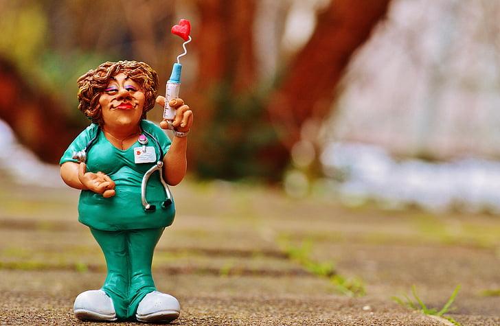y tá, Yêu, ống tiêm, con số, Buồn cười, Valentine's day, Dễ thương