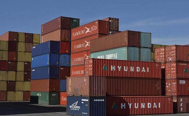 集装箱, 货物, 运输, 物流, 集装箱码头, 集装箱码头, 纽伦堡港