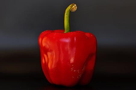 paprika, köögiviljad, punane, punane pipar, toidu, terve, Sulgege