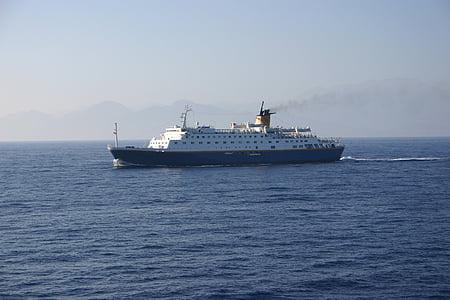 fartyg, Kreta, Grekland, helgdagar, Holiday, vatten