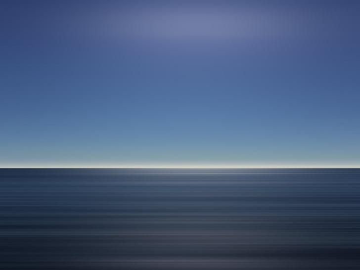 ocean, sky, blue, calm, tranquil, horizon, vacation